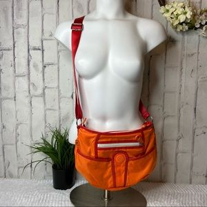 Kipling Medium Harajuku Orange Red Crossbody